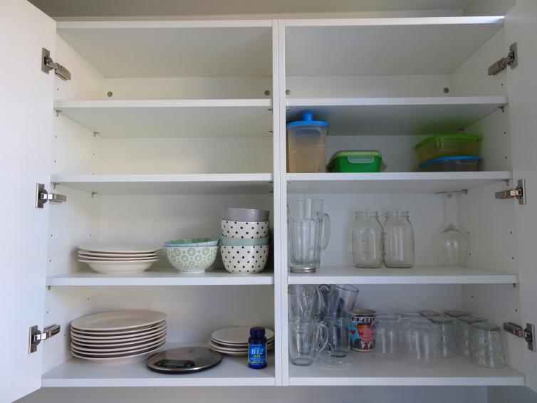 Keukenkast wat we gebruikten tijdens de 30 dagen challenge
