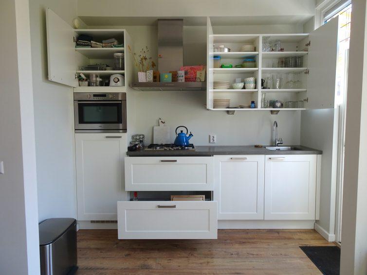 De keuken na het opruimen