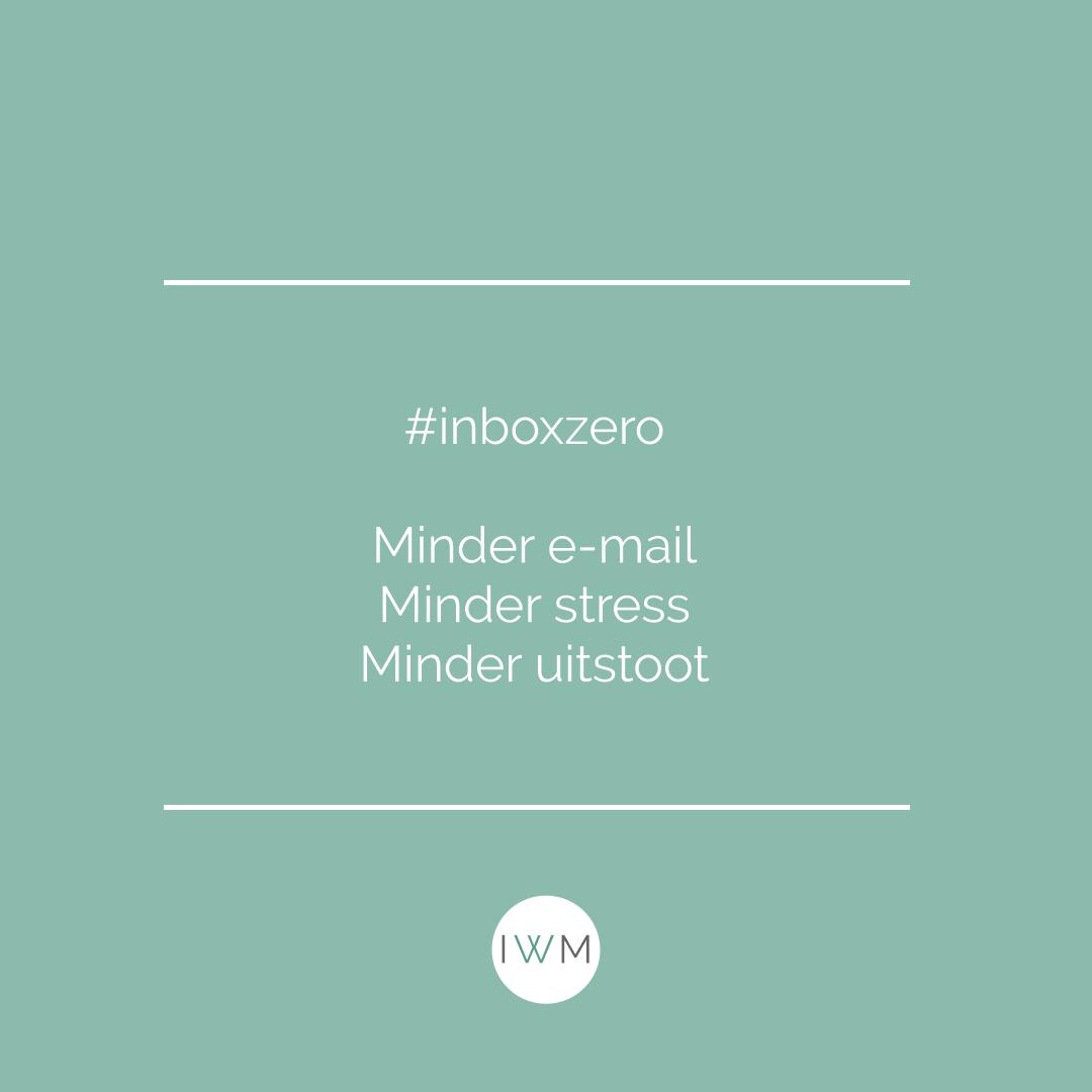 #inboxzero - minder e-mail, minder stress, minder uitstoot