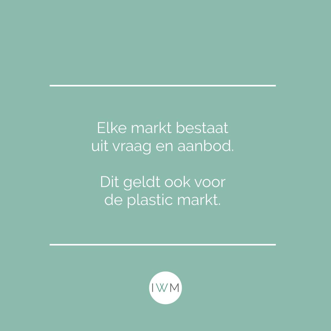 Elke markt bestaat uit vraag en aanbod. Dit geldt ook voor de plastic markt.