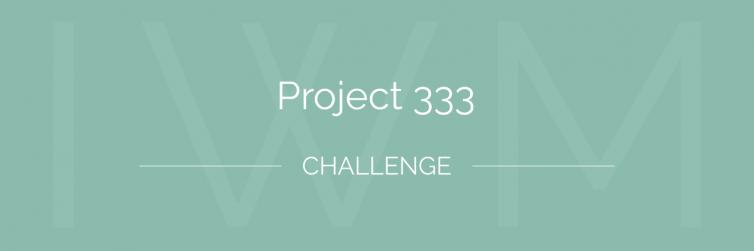 Project 333 challenge